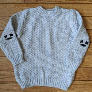 Zara Little Faces Elbow Patch Sweater